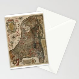 1611 Leo Belgicus by Jodocus Hondius Stationery Cards