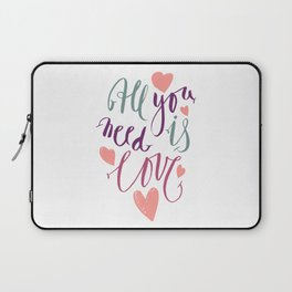 Love quotation handwriting Laptop Sleeve
