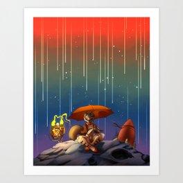 Meteoric Vixen Art Print