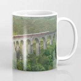 Hogwart Express steam engine in the scottish highlands Coffee Mug