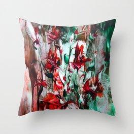 RedLilies Throw Pillow