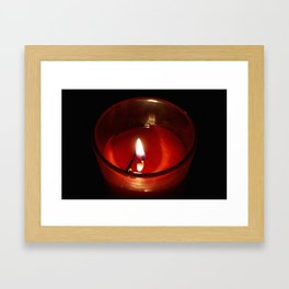 The Candle in the night Framed Art Print