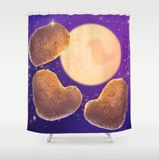 Three Nugget Moon Shower Curtain