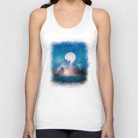 sun and moon Tank Tops featuring Moon Above, Sun Below by Viviana Gonzalez