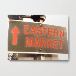Capitol Hill, DC - Eastern market sign - neighborhood market - local art - DC photo Metal Print