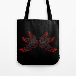 Black Red Archangel Wings Tote Bag