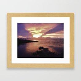 OBX Sunset Framed Art Print