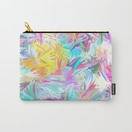 Pastel Abstract Leaves Design Carry-All Pouch