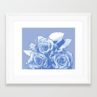 blueprint Framed Art Prints featuring BluePrint by Laurkinn12