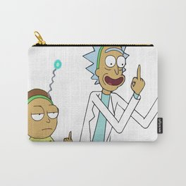Rick and morty flipping the bird_vectorized Carry-All Pouch