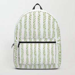 Matcha Greens - nature spring leaves green pattern Backpack