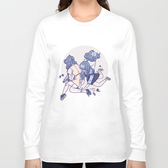 Wild Flowers (Light Background) Long Sleeve T-shirt