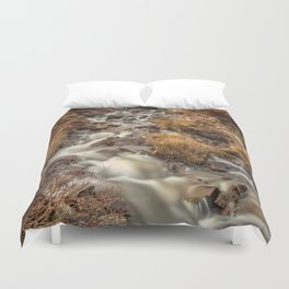 Golden Falls Duvet Cover
