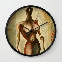 Eves 1, Nude surrealist female figure, NYC Artist Wall Clock