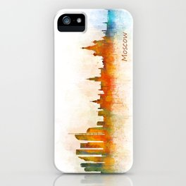 Moscow City Skyline art HQ v3 iPhone Case