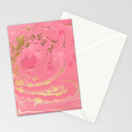 Fluid Rose Gold Stationery Cards