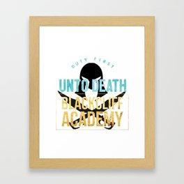 black cliff academy - an ember Framed Art Print