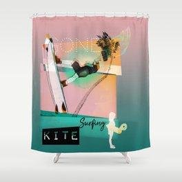 Gone kitesurfing Shower Curtain