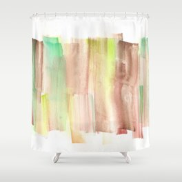 [161228] 22. Abstract Watercolour Color Study |Watercolor Brush Stroke Shower Curtain