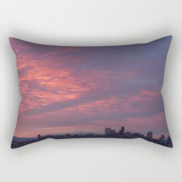 Downtown Seattle and Mt Rainier at Sunrise Rectangular Pillow