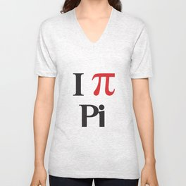 I Heart Pi Unisex V-Neck