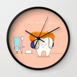 I am not baby anymore ! Wall Clock