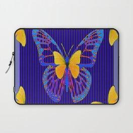 MODERN BLUE BUTTERFLIES ART Laptop Sleeve