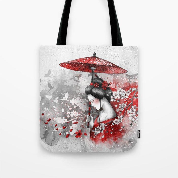 Falling blossoms Tote Bag