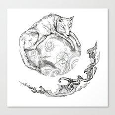 January's moon Canvas Print
