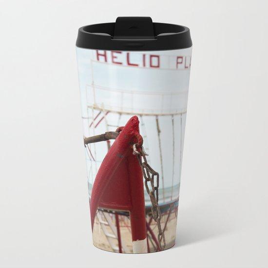 Beach H Metal Travel Mug