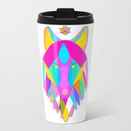 Vibrant Wolf Travel Mug