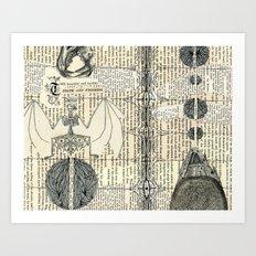 death and progress Art Print