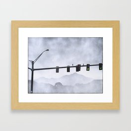 Leaving the City Framed Art Print