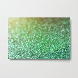 Beautiful Green Glitter Sparkles Metal Print