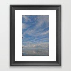 Fishing in the Bay Framed Art Print