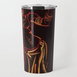 tribal fusion belly dancer dynamic gestures sketch drawing Travel Mug