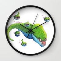 butcher billy Wall Clocks featuring Billy by Quinn Hagood