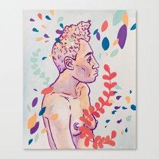 Floral Figure Study Canvas Print