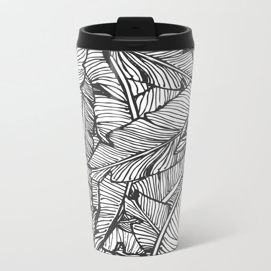 Black & White Jungle #society6 #decor #buyart Metal Travel Mug
