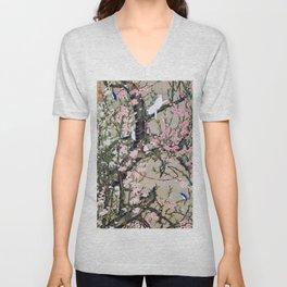 Ito Jakuchu - Peach tree and Birds - Digital Remastered Edition Unisex V-Neck