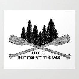 Life at the Lake Art Print