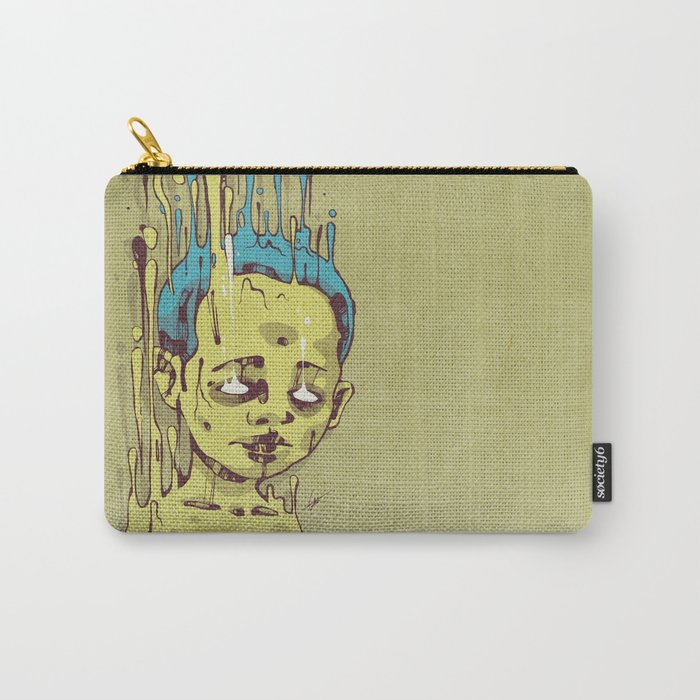 The Golden Boy with Blue Hair Carry-All Pouch