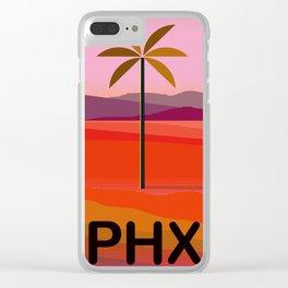 Phoenix Arizona Travel Poster Clear iPhone Case
