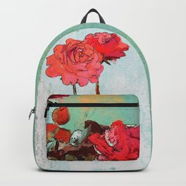 Two Roses at the window Backpack
