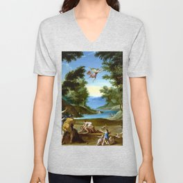 Federico Zuccaro Cupid and Pan Unisex V-Neck
