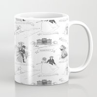 pride and prejudice Mugs featuring Pride and Prejudice Toile by Aimee Steinberger
