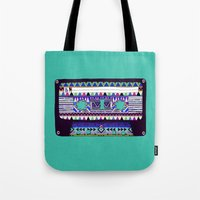 tape Tote Bags featuring Mix Tape # 10 by Bianca Green