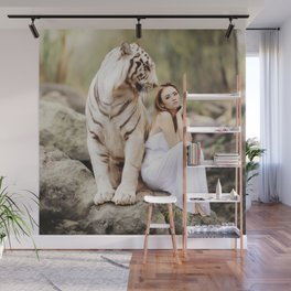 White Tiger from Bengal | Tigre blanc du Bengale Wall Mural