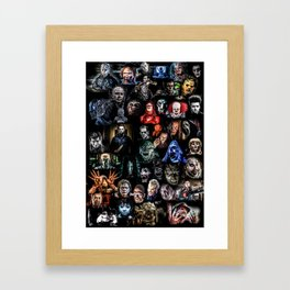 Legends of Horror print Framed Art Print