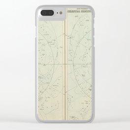 A & C Black's Celestial Hemispheres (1873) Clear iPhone Case